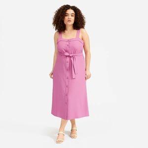 Everlane The Japanese GoWeave Picnic Dress Pink 6